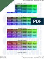 Colores Utilizados en HTML