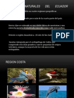 Biodiversidad de Las Regiones Del Ecuador