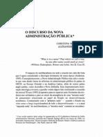 O discurso da nova administração pública