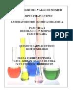 Practica 4 Destilacion Simple y Fraccionada
