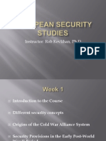 Week 1 Introduction to European Security and Origins of Cold War Alliance System