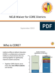 CORE Waiver Overview 9 4 13