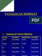 2 - PANGGILAN HORMAT