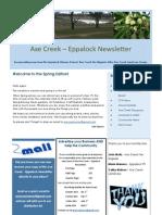Axe Creek - Eppalock Newsletter, Issue 40