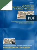 Persyaratan Teknis Pengoperasian, Penutupan dan Rehabilitasi TPA Sampah