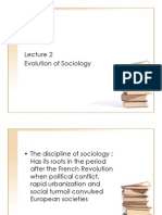 2.Evolution of Sociology