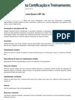 Conteúdo Programático - Matemática Financeira com Excel e HP 12c
