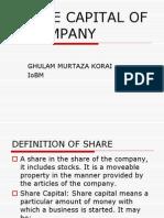 (b) Share Capital of a Company