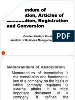 Memorandum & Articles of Association