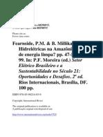 Fearnside_&_Millikan_Hidreletricas-O Setor Elétrico Brasileiro