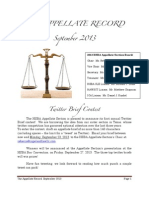The Appellate Record - September 2013