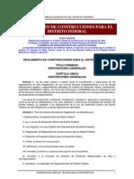 Reglamento de Construcciones Distrito Federal