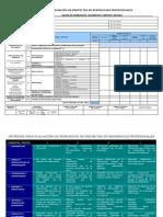 Rúbrica para Evaluación de Protocolo