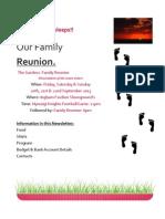 Family Reunion Newsletter