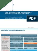 Recruitment Process Outsourcing (RPO) - Service Provider Profile Compendium 2013