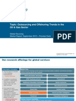 Outsourcing and Offshoring Trends in Select Verticals - Oil and Gas