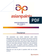 Analyst Presentation of Asian paints annual report summary - FY2013 Results