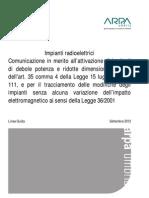 ARPA UMBRIA - Linea Guida Art35