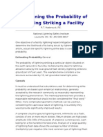 Determining the Probability of Lightning Striking a Facility