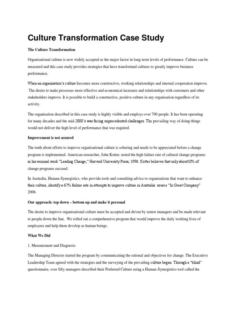organizational culture of infosys pdf