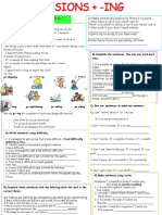 gerund or infinitive  list and practice