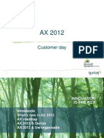 AX 2012 Customer Day