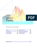 Fonts used in IDL