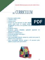 Curriculum Clasa Pregatitoare VP