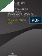 2012 - Dokumentation des Innovationspreises des Landes Baden-Württemberg 2012