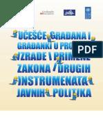 Učešće građana i građanki u procesu izrade i primene zakona i drugih instrumenata javnih politika