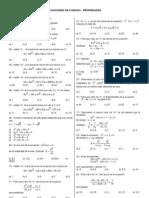 Ecuaciones Inecuaciones de 2do Grado Practica