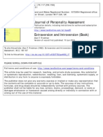 Extraversion and Introversion Journal of Personality Assesment