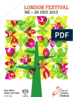 City of London Festival 2013 Booking Brochure