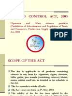 Tobacco Control Act 2003