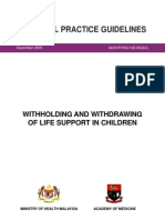 Witholding & Withdrawing of Life Support in Children