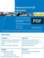 Stationary Fuel Cell Evaluation
