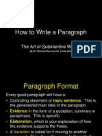 copy of how to write a paragraph