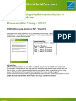 83070 Unit 01 Developing Effective Communication in Health and Social Care Teacher Instructions