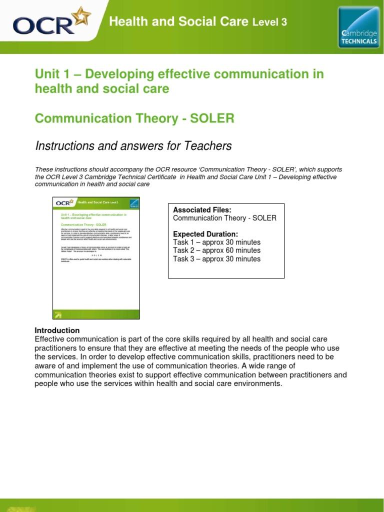 soler communication theory