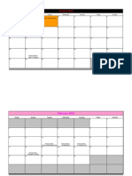 2013 Finance Calendar