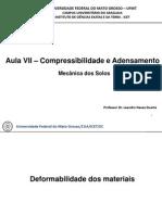 Aula VIII - Compressibilidade e Adensamento - Mecânica dos Solos
