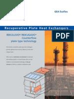 Recuperative Plate Heat Exchangers