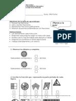 Guia de Fracciones Razonamiento Matematico Tercero Basico