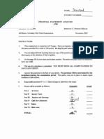 A750 Mid-Term Exam Solution