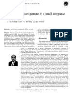 Activity-Based Management in a Small Company Sd
