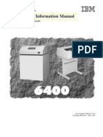 IBM 6400 Line Matrix Printer Service Manual