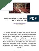 CHARLA EL CONCILIO VATICANO II DESPUÉS DE 50AÑOS