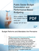 Public Sector Performance Budgeting