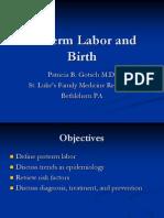 Preterm Labor Gotsch