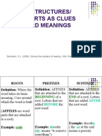 word structures and word parts